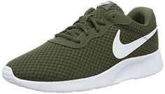 best service 9dbaa 61a8b Nike Mens Tanjun Running Shoe 115 DM US Cargo KhakiWhite     Learn more by  visiting the image link. Note  It s an affiliate link to Amazon