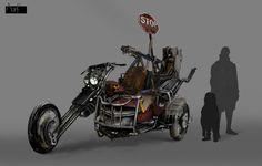 ArtStation - Post Apocalyptic Sidecar, Alba Francescut. #postapocalyptic #Art #gosstudio .★ We recommend Gift Shop: http://www.zazzle.com/vintagestylestudio ★