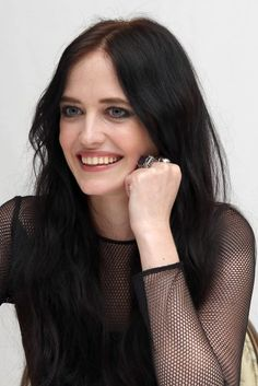 Eva Green - Sin City: A Dame to Kill For press conference portraits by Munawar Hosain (Beverly Hills, August Kenzo, Green Movie, French Actress, Eva Green, Celebs, Celebrities, Girl Crushes, Beautiful Women, Long Hair Styles