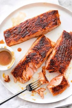 Maple-Crusted Salmon | http://foodiecrush.com