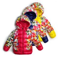 "girl children with a hood hemming cotton-padded jacket flower solid color space cotton down winter outwear size 90-130cm $<span itemprop=""lowPrice"">19.90</span> - <span itemprop=""highPrice"">21.90</span>"