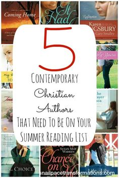 These contemporary Christian Authors will whisk you away making their books perfect for summer reads.