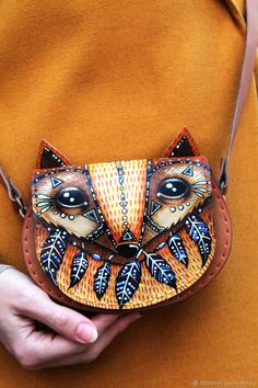 "Buy Leather handbag ""Fox"" hand painted on Livemaster online shop"