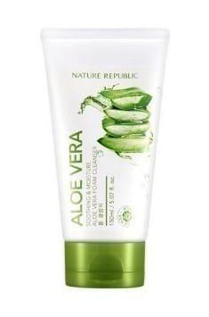 Nature Republic Soothing & Moisture Aloe Vera Foam Cleanser, $7.29