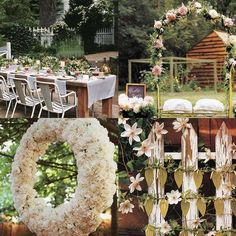 Outdoor wedding ideas.