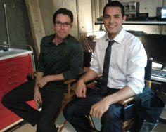 Samy Osman and Christopher Jacot on set of