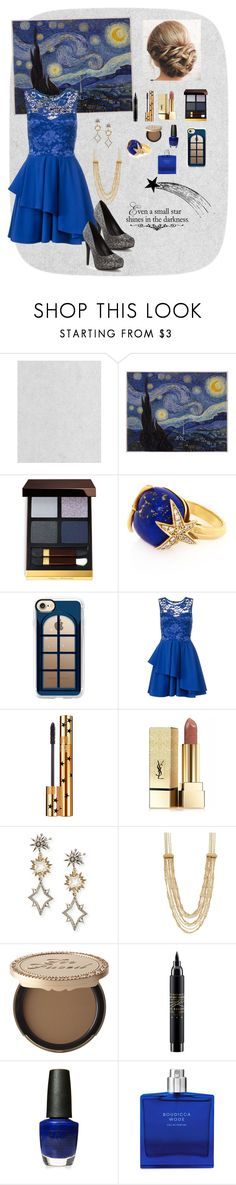 """Starry Night"" by cecebrown0204 ❤ liked on Polyvore featuring Graham & Brown, Tom Ford, Alexandra Alberta, Casetify, Dorothy Perkins, Yves Saint Laurent, Lulu Frost, Napier, Too Faced Cosmetics and MAC Cosmetics"