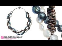 How to Make a Braided Pearl Necklace | Beadaholique  Great idea for those strands of beads that Michaels puts on sale occasionally.