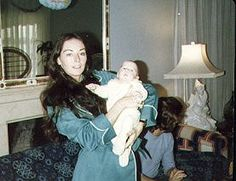 Linda Gibb with baby Ashley 1977