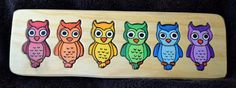 OWL Colors and Numbers puzzle on Etsy, $15.00