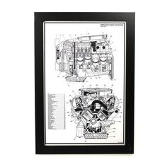 Mercedez-Benz V8 Engine Print