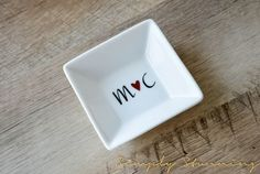 Personalized initials Ring Dish wedding gift by SimplyStunningSite