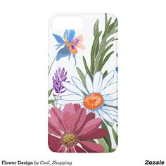 Flower Design Case-Mate iPhone Case Different Flowers, Colorful Flowers, Flower Patterns, Flower Designs, Design Case, Diy Face Mask, Gifts For Dad, Online Shopping, Art Pieces