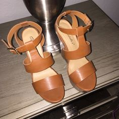Tan Wedges Size 6.5 Never worn. No box. I had feet surgery so no longer fit. Shoes Wedges