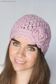 Lilac & Lace Vintage Hat - Crochet Pattern & Giveaway