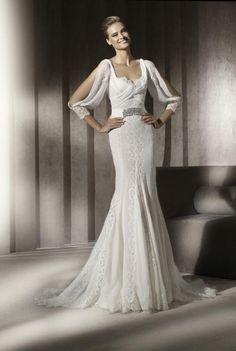 Wedding Gown Spring 2012 by Manuel Mota - bridal gowns elma lace sleeves : Wedding Gown Spring 2012 by Manuel Mota – bridal gowns elma lace sleeves