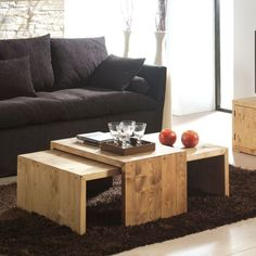 West Elm Inspired DIY Coffee Table Coffee Table DIY Inspiration - West elm plank coffee table