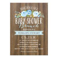 Rustic Baby Shower | Baby Shower Invitation