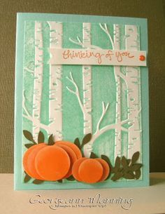 Stampin' Everything!: Sheltering Tree, Woodland Embossing Folder
