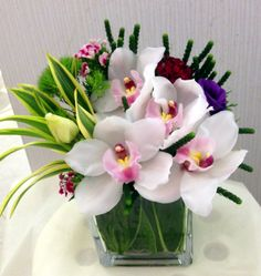 Cymbidium orchid table arrangement