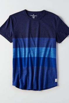American Eagle Outfitters Men's & Women's Clothing, Shoes & Accessories AE Flex Rugby Stripe T-Shirt<br> Shirt Logo Design, Tee Shirt Designs, Mens Stylish T Shirts, T Shirts For Women, Mens Outfitters, Eagle Outfitters, Men's Wardrobe, Polo T Shirts, Printed Shirts