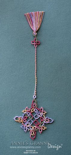 Tatted bookmark by Annie's Granny Design - pattern by Karey Solomon