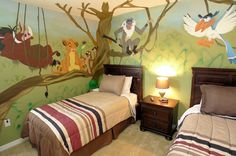 Lion King themed vacation home bedroom in Orlando, FL