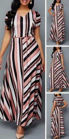 Dresses For Women Frock Fashion, Women's Fashion Dresses, Dress Outfits, Fashion Moda, Stylish Dresses, Casual Dresses, Latest African Fashion Dresses, African Dress, Belted Dress