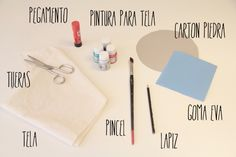 Estampar, Dibujar y Decorar Tela | Blog Cocottó Office Supplies, Notebook, Diy, Blog, Crafty, Ink, Jelly Beans, Needlework, Crafts