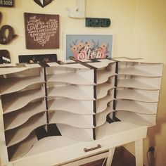 I made student mailboxes using IKEA Flyt magazine holders! And it only cost $8! #b2s2015 #studentmailboxes #ikeahack #ifounditonpinterest #backtoschool #loveit #wildfridaynight