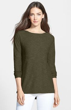 Eileen Fisher Slub Knit Bateau Neck Top (Regular & Petite) (Online Only) available at #Nordstrom