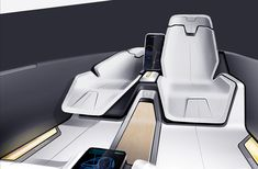 Volvo 2030 Autonomous by Ryan Ebbers Car Interior Sketch, Car Interior Design, Interior Design Software, Interior Design Sketches, Automotive Design, Auto Design, Design Interiors, Cafe Interior, Honda Jet