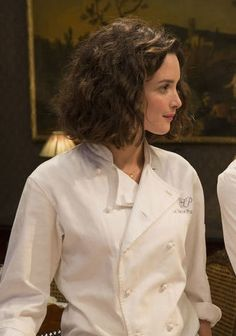 """Thick, curly bob (Charlotte Le Bon in """"100 Foot Journey"""")"""