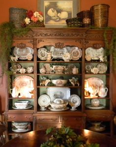 Hhhhmmmm, bookcase as a Welsh dresser, might work!!