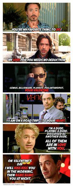 Iron Man, Sherlock Holmes, Due Date, Tropic Thunder and Kiss Kiss Bang Bang - RDJ, Valentine's YES YES YES