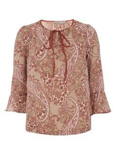 Womens **Vero Moda Pink Paisley T-Shirt- Pink , Dorothy Perkins Paisley Print, Stylish Outfits, Tunic Tops, Womens Fashion, Ladies Fashion, Bell Sleeve Top, Boho, Clothes For Women, Trending Outfits