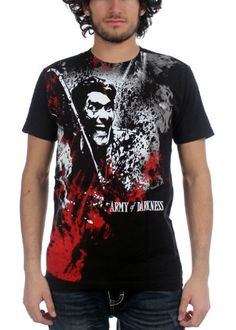 Army of Darkness Blood & Smoke Subway Black Adult Tee XXL - men's soft fitted 30/1 cotton tee with large Subway Army of Darkness graphic on the front. Black.  Due to the unique printing process of Subway designs, variations from shirt to shirt should be expected. These variations should not be considered flaws.  - http://ehowsuperstore.com/bestbrandsales/instant-video/army-of-darkness-blood-smoke-subway-black-adult-tee-xxl