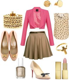 """""""Pretty In Pink"""" by tiffanyhatton on Polyvore"""