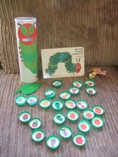 Story sack resource (Hungry Caterpillar) - This is one of Connor's favourite stories. Preschool Literacy, Literacy Activities, Preschool Activities, Hungry Caterpillar Activities, Very Hungry Caterpillar, Chenille Affamée, Story Sack, Eric Carle, Hungry Caterpillar