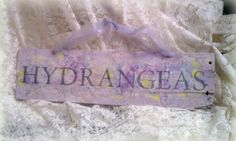 Floral Sign Shabby Chic Romantic Cottage Garden by HickoryandLace