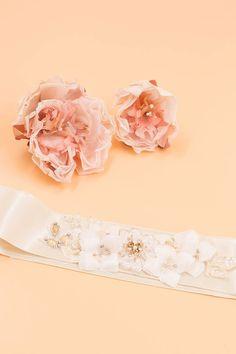 Hydrangea czech rhinestone and lace satin by Shmilyaccessory