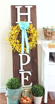 Hope+Easter+Wreath+Board+Decoration