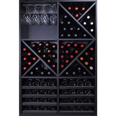 Save a lot of money by buying our completed wine rack. Consists of 6 GOMEZ wine rack modules. Wine Cellar Racks, Wine Rack Wall, Wine Wall, Wine Shelves, Wine Storage, Home Wine Cellars, Wine Cellar Design, Wine House, Wine Display