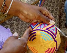 "Wayuu mochilas are made by hand, exclusively by Indigenous women, Wayuu Indian artisans. They are made in three distinct color schemes, including ""vi Tapestry Bag, Tapestry Crochet, Crochet Motif, Diy Crochet, Crochet Stitches, Crochet Patterns, Crochet Hooks, Mochila Crochet, Crochet Purses"