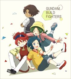 Tags: Fanart, Pixiv, Fanart From Pixiv, Pixiv Id 3112589, Gundam Build Fighters, Iori Sei, Reiji (Gundam Build Fighters), Nils Nielsen, Yasaka Mao (Gundam Build Fighters)