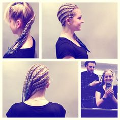 Another Rasta- Style #udowalz #kudamm #berlin #hairdresser #hairstyle #rasta #rastastyle #barbershop #afrohair #blonde #braid #ombre #blue #hairbyarmin #udowalzcreativeteam