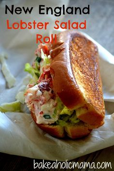 New England Lobster Salad Roll - for my Maine-iac dad