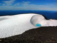 """""""Teardrop Pool"""", on the South Sister summit in Oregon is considered the highest lake in the state!"""