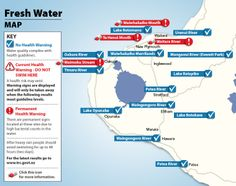 Coastal and Fresh Water. Water Safety, Water Quality, Public Health, Fresh Water, Drill, Coastal, Map, Hole Punch, Drills