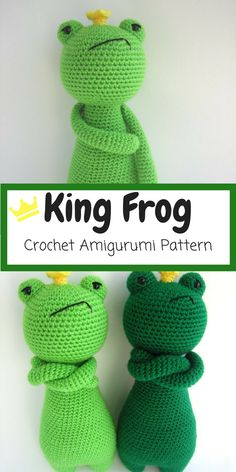 I love this Grumpy King Frog Amigurumi. This is a pattern to make this lovely frog, including the crown and cape! #crochet #ad #amigurumi #crochetpattern #amigurumipattern